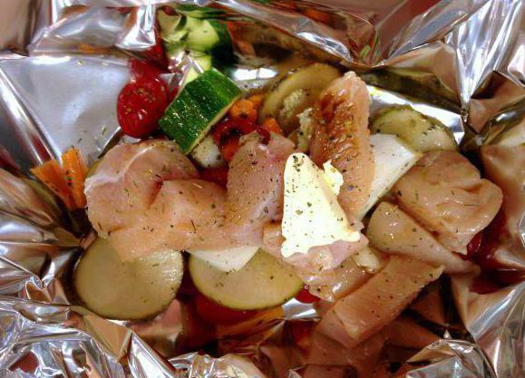kurczak pieczony w rękawie z warzywami