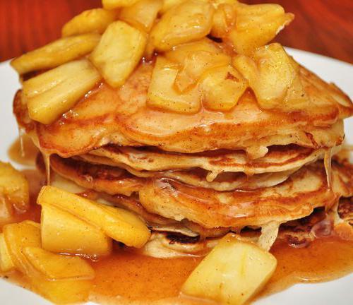 palačinke z receptom za jabolka