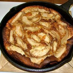 palačinke, polnjene z jabolki