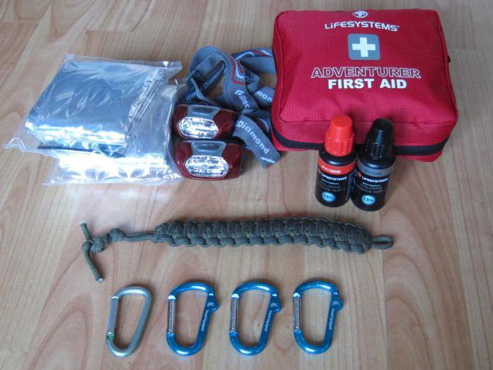 kit di pronto soccorso nel viaggio dell'acqua
