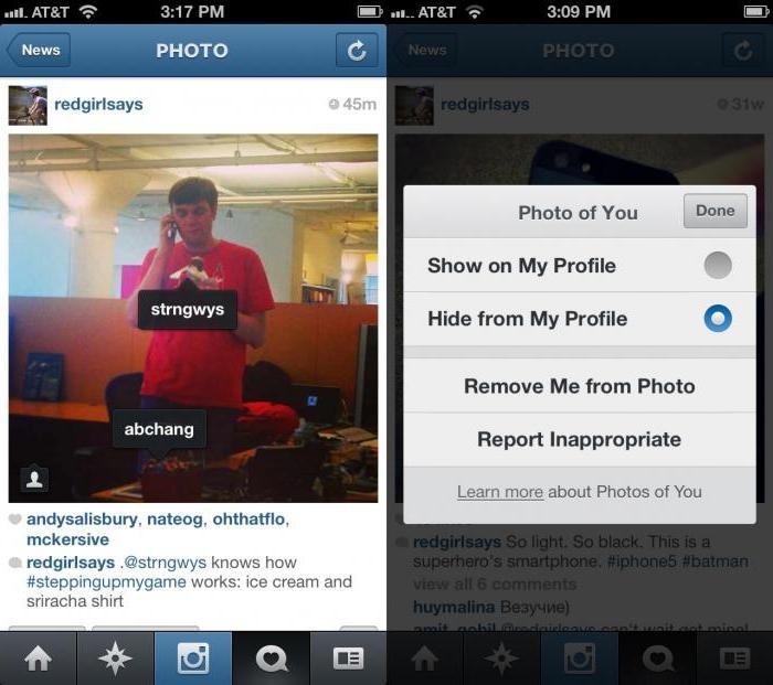 kako zabeležiti v instagramu osebe na fotografiji