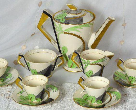 комплект за кафе за 6 души порцелан япония