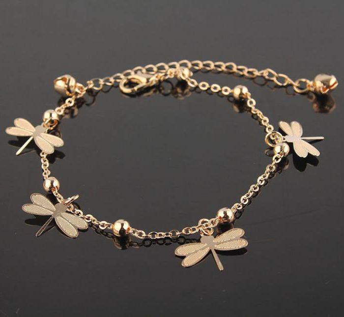 braccialetto d'oro a piedi