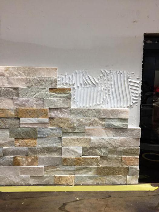 colla di pietra per uso esterno