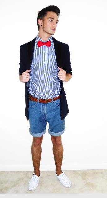 мъжки деним къси панталони