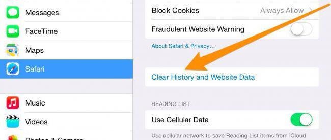 come cancellare la memoria su iPhone 6 16 GB