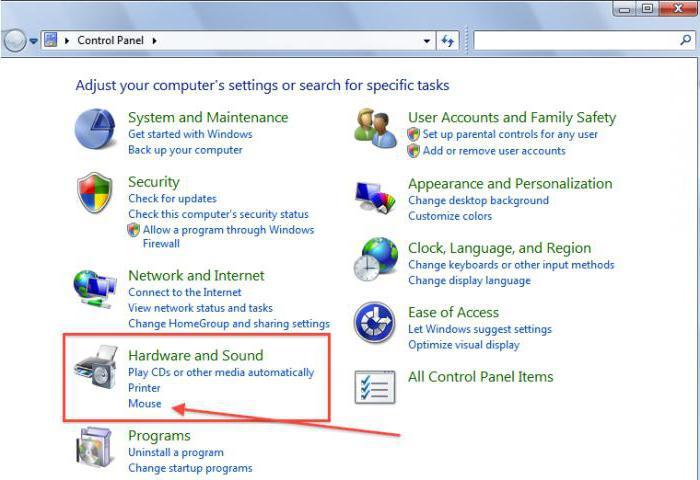 come configurare il mouse su Windows 7