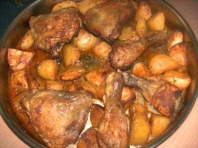 варете пилешки бутчета във фурната