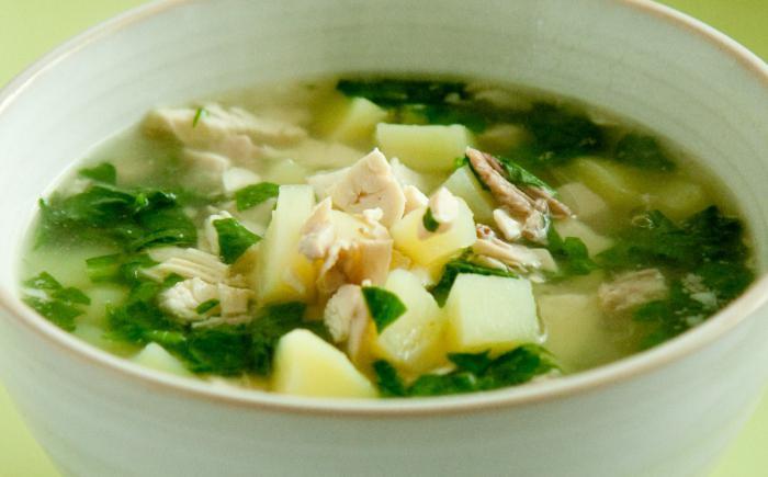 Замразена супа от спанак