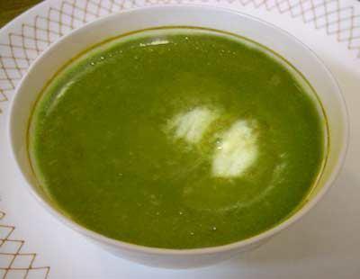 Замразена супа от пюре от спанак