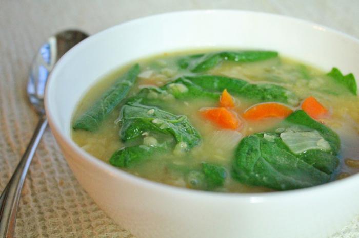 Супа от спанак, замразена рецепта