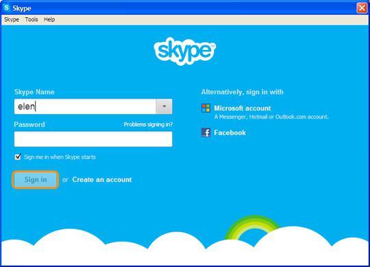 come creare un account skype