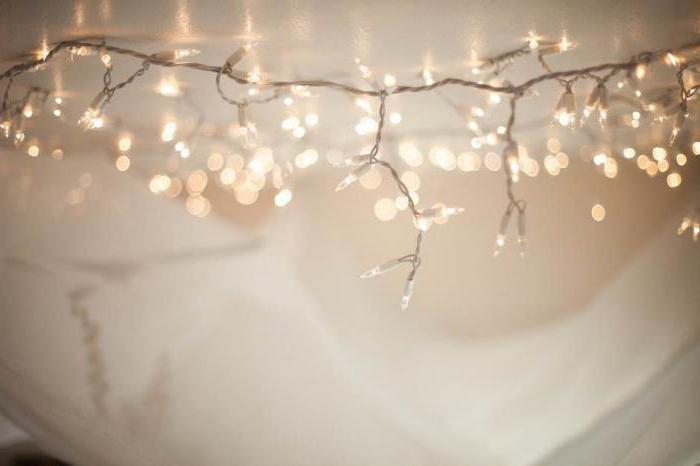 jak vyzdobit pokoj s girlandou pro nový rok