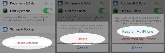 nastavitev iphone