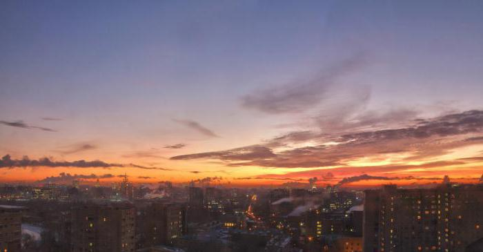 Alba e tramonto a Mosca