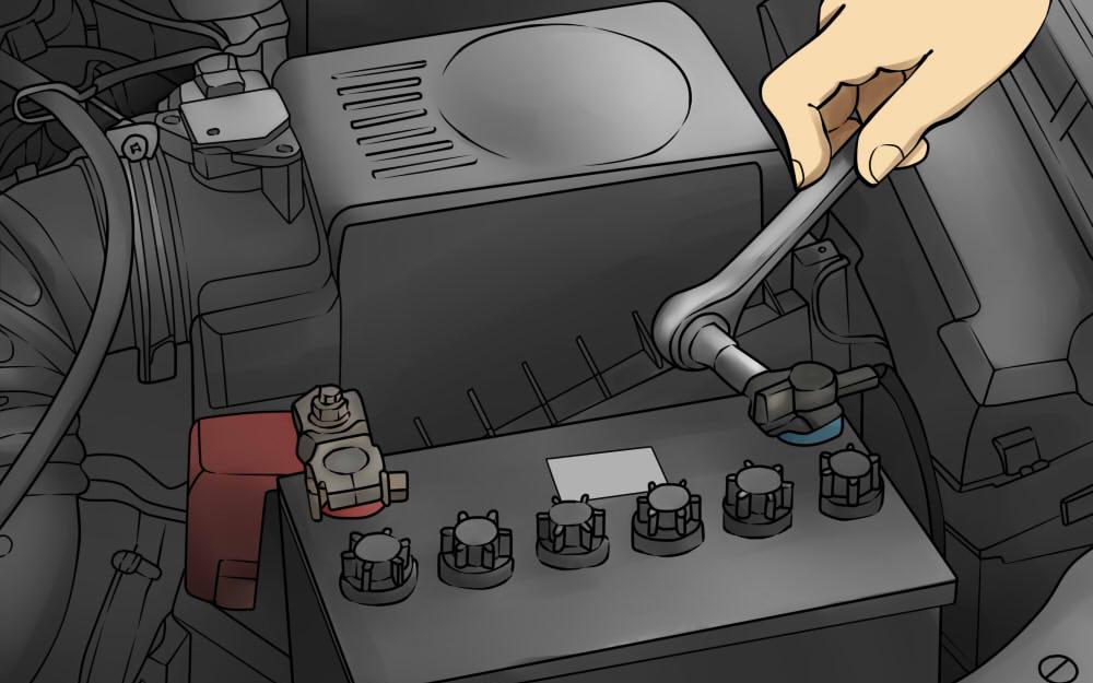 Scollegare la batteria