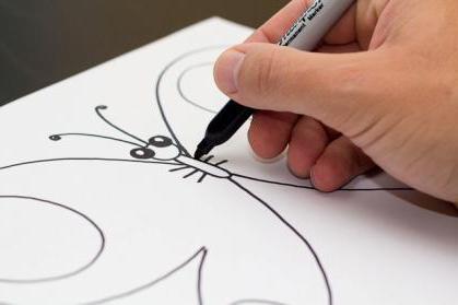 come disegnare una farfalla