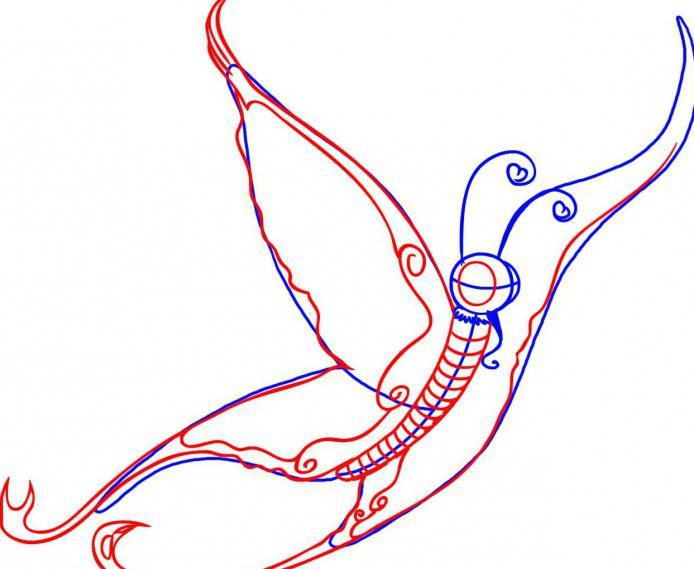 come disegnare una farfalla con una matita