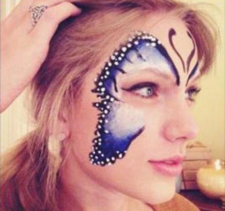 come disegnare una farfalla sul viso