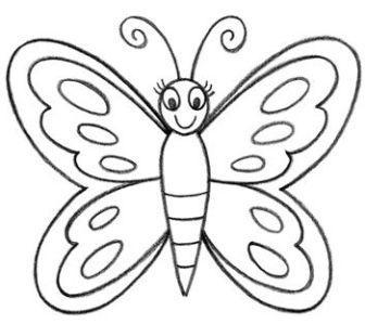 come disegnare una farfalla passo dopo passo