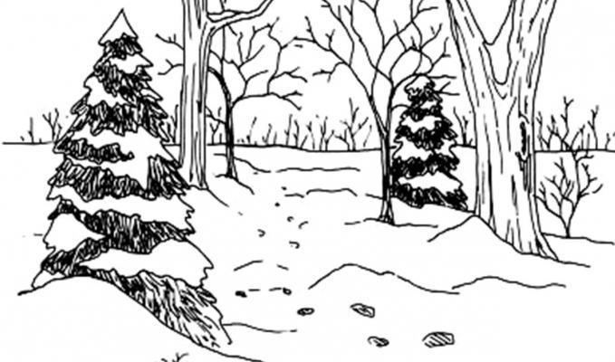 come disegnare un albero di Natale con una matita