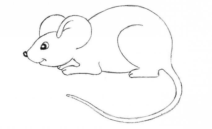 kako nacrtati miša s olovkom