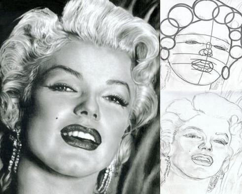disegna un ritratto per gradi