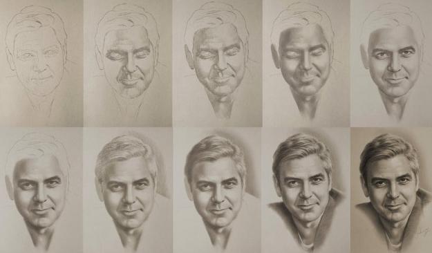 come disegnare i ritratti a matita in più fasi