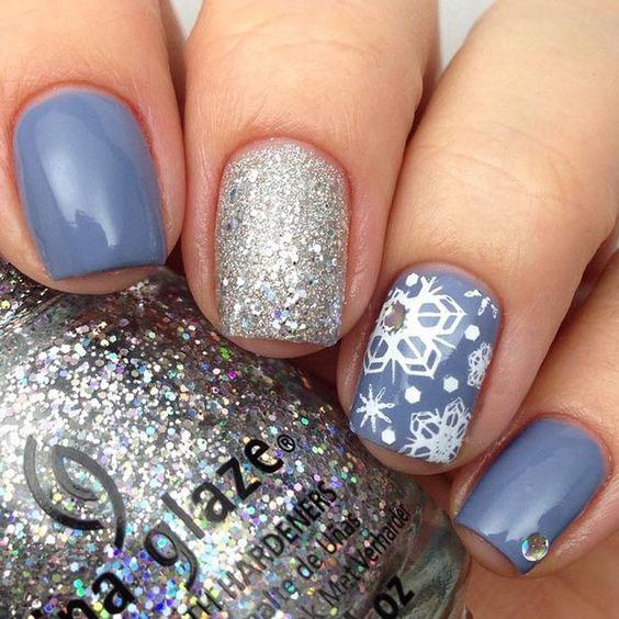 как да се направи снежинка на гел за нокти