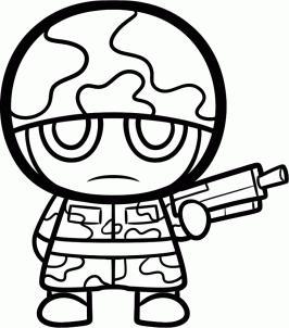 jak nakreslit vojáka s tužkou