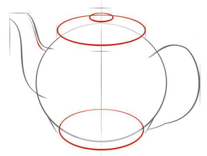 kako crtati čajnik u olovci korak po korak