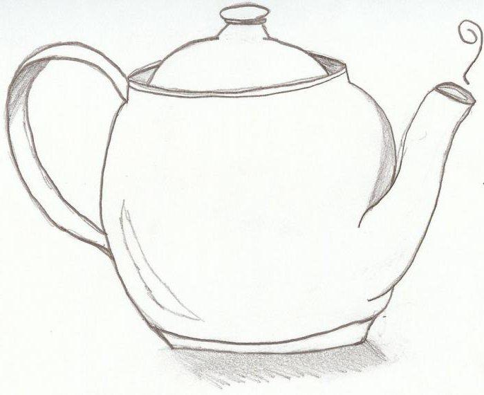 kako crtati čajnik u olovci korak po korak za početnike