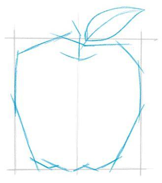 come disegnare una mela in più fasi