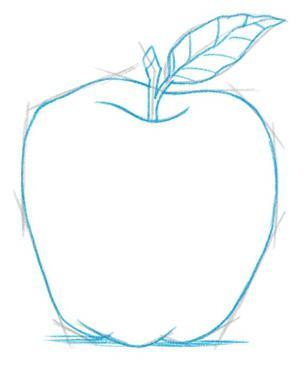 come disegnare una mela a matita poco alla volta