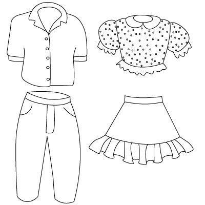 come disegnare i vestiti per i principianti