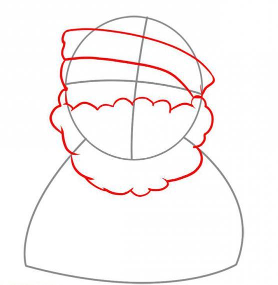 come disegnare la foto di Babbo Natale