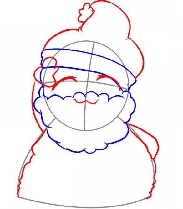 com'è facile disegnare Babbo Natale