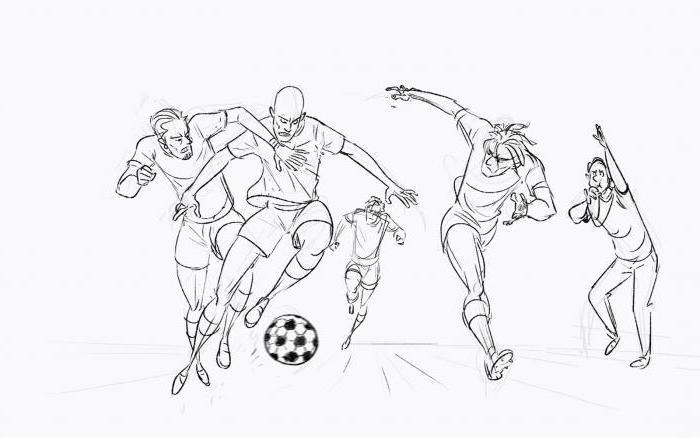 come disegnare un calciatore passo dopo passo