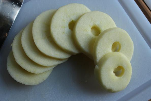 essiccando le mele a casa