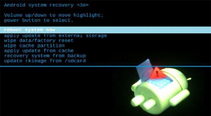 как да излезете от менюто за възстановяване на android