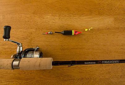 Štap za ribolov s kliznim plovkom