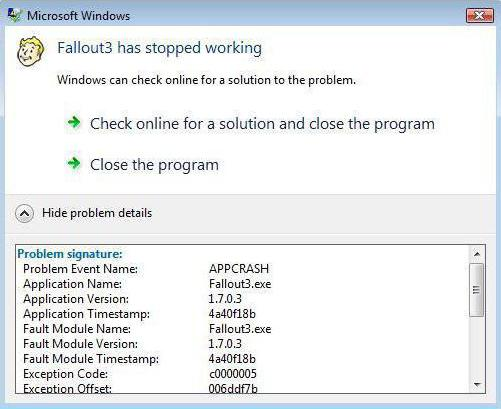 come riparare l'errore Appcrash Windows 7