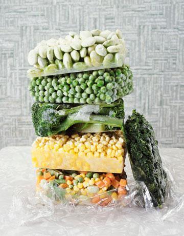 Congelamento di frutta e verdura