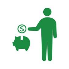 parte della pensione del lavoro finanziata
