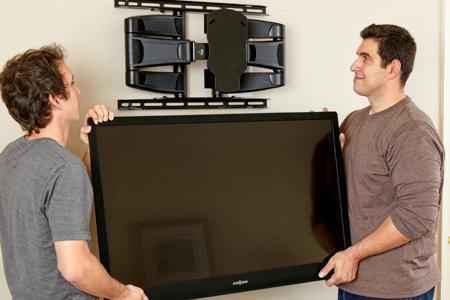 TV na visini zida