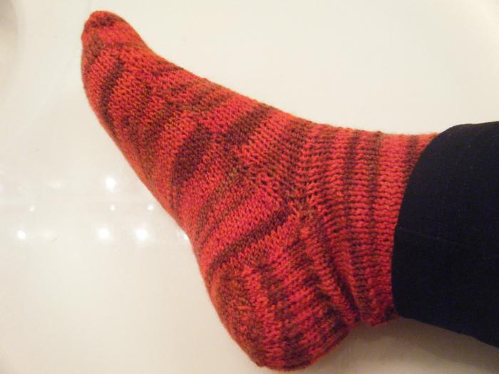 calzini per maglieria su due ferri da calza