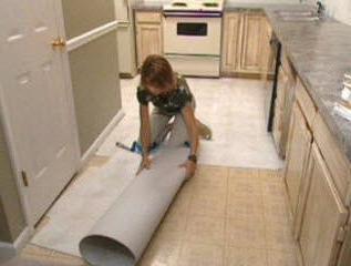 как да се постави линолеум върху бетон