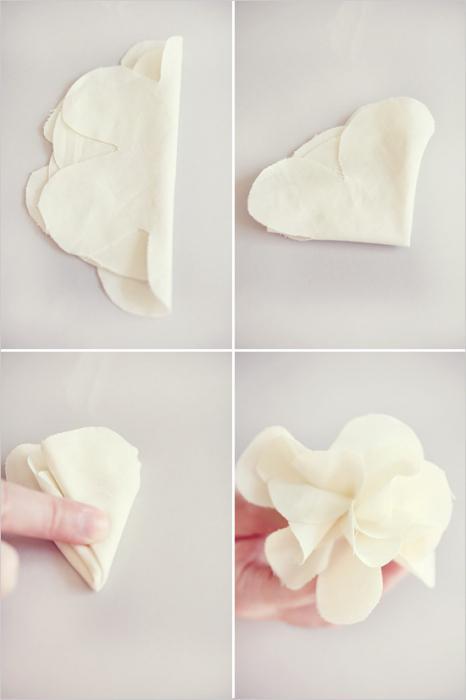 како направити цвијет крпом