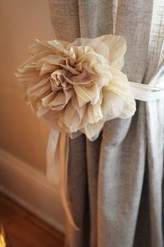 fiori di stoffa per tende