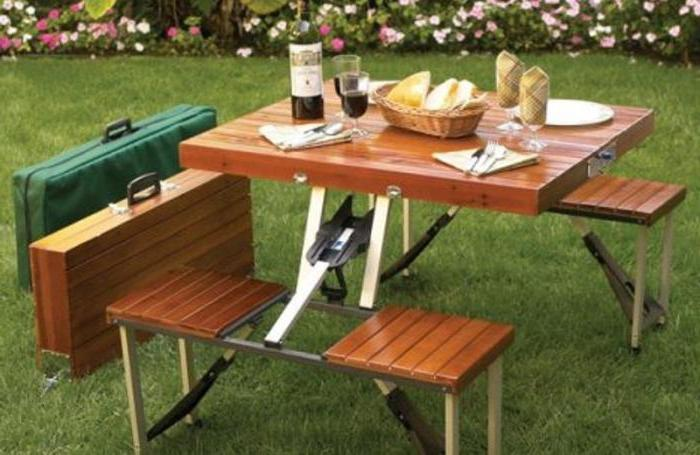 tavolo da picnic pieghevole